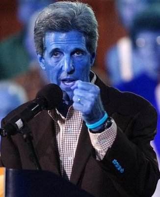 Kerry with a blue tone to his skin